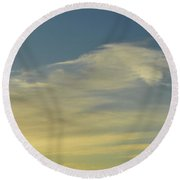 Cloud Composition  Round Beach Towel by Lyle Crump