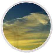 Cloud Composition Two  Round Beach Towel by Lyle Crump