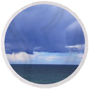 Round Beach Towel featuring the photograph Cloud Curtain by Nareeta Martin