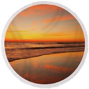 Round Beach Towel featuring the photograph Cloud Dance  by John F Tsumas