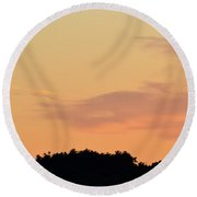 Cloud Edge Over The Trees  Round Beach Towel by Lyle Crump