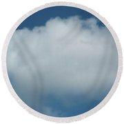 Cloud Round Beach Towel