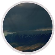 Cloud Filtered Round Beach Towel