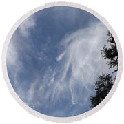 Round Beach Towel featuring the photograph Cloud Fingers by Don Koester