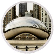 Cloud Gate - 3 Round Beach Towel by Ely Arsha