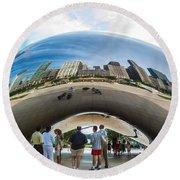 Cloud Gate Aka Chicago Bean Round Beach Towel