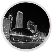 Cloud Gate Round Beach Towel