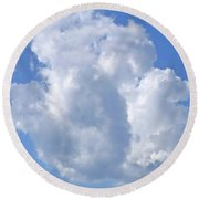 Round Beach Towel featuring the photograph Cloud M1 by Francesca Mackenney