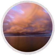 Cloud Motion At Dawn  Round Beach Towel