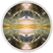 Round Beach Towel featuring the photograph Cloud No.3 by Keith McGill
