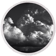Cloud Power Over The Lake Round Beach Towel