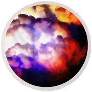 Cloud Sculpting 1 Round Beach Towel