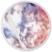 Cloud Sculpting 3 Round Beach Towel