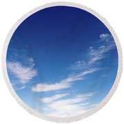 Cloud Sculpting Round Beach Towel