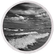 Cloud Sound Drama Round Beach Towel