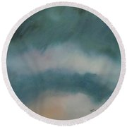 Cloud Study 1 Round Beach Towel