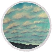 Cloud Study Cropped Image Round Beach Towel