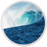 Cloudbreak Empty 1 Round Beach Towel by Brad Scott