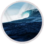 Cloudbreak Empty 2 Round Beach Towel