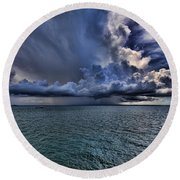 Cloudburst Round Beach Towel