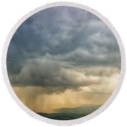 Storm Clouds - Blue Ridge Parkway Round Beach Towel