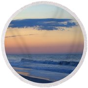 Round Beach Towel featuring the photograph Clouded Pre Sunrise by  Newwwman