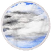 Clouds 2 Round Beach Towel