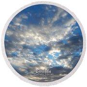 Clouds #4049 Round Beach Towel by Barbara Tristan