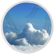 Round Beach Towel featuring the photograph Clouds And Sky M3 by Francesca Mackenney