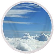 Round Beach Towel featuring the photograph Clouds And Sky M4 by Francesca Mackenney
