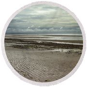Clouds And Sun At Mayflower Beach Round Beach Towel