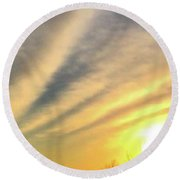 Clouds And Sun Round Beach Towel by Sumoflam Photography