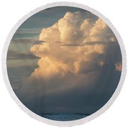 Clouds And Surf Round Beach Towel