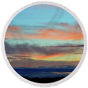 Clouds At Different Altitudes  Round Beach Towel