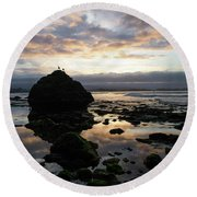 Clouds In The Sea Round Beach Towel