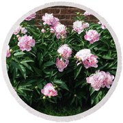 Clouds Of Peony Round Beach Towel