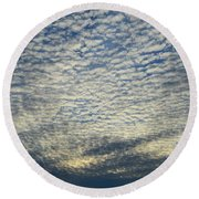 Round Beach Towel featuring the photograph Clouds Of That Day  by Lyle Crump