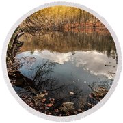 Round Beach Towel featuring the photograph Clouds On The Lake by Okan YILMAZ