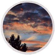 Clouds Or Sun ? Round Beach Towel by Kathy Eickenberg