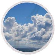 Clouds Over Catalina Island - Panorama Round Beach Towel