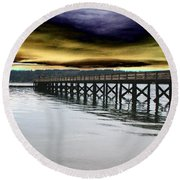 Clouds Over Illahee Round Beach Towel