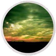 Clouds Over Ireland Round Beach Towel