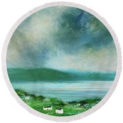 Clouds Over Malin Head, Donegal Round Beach Towel