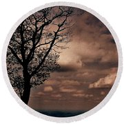 Clouds Over Shenandoah Round Beach Towel