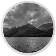 Clouds Over Loch Lochy, Scotland Round Beach Towel