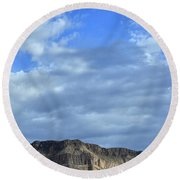 Clouds Over Virgin River Canyon Round Beach Towel