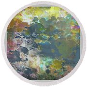Clouds Over Water Round Beach Towel by Deborah Nakano
