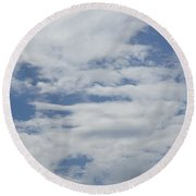 Clouds Photo II Round Beach Towel