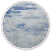Clouds Photo IIi Round Beach Towel