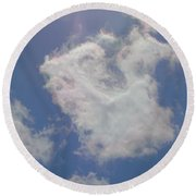 Clouds Rainbow Reflections Round Beach Towel by Cindy Croal